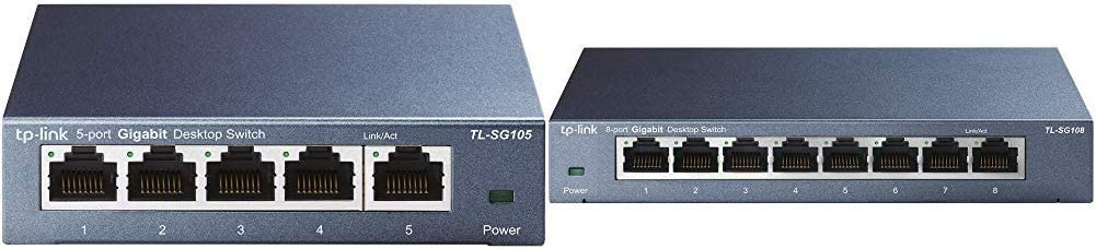 TP-Link 5 Port Gigabit Ethernet Network Switch (TL-SG105) & 8 Port Gigabit Ethernet Network Switch (TL-SG108)