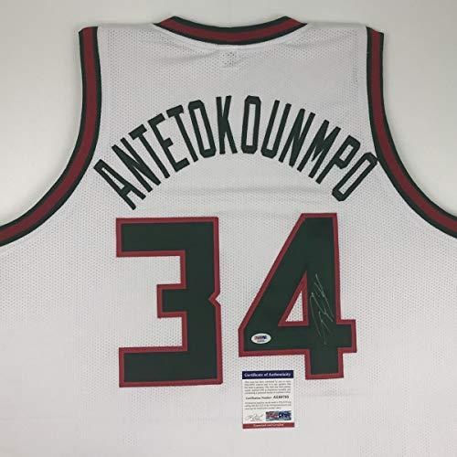 afc5e2220 Milwaukee Bucks Autographed Jerseys. Autographed Signed Giannis  Antetokounmpo ...