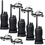Case of 5 Retevis RT21 Walkie Talkies for Adults Long Range  Handfree Rugged Two Way Radio with Earpiece for Commercial Construction Warehouse Security 2 Way Radios
