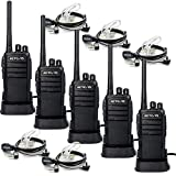 Retevis RT21 Walkie Talkies 16CH FRS Two Way Radio VOX Scrambler2 Way Radios(5 Pack) with 2 Pin Covert Air Acoustic Earpiece (5 Pack)