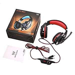 Noise Cancelling Gaming Headset Headphone Earphone Headband with LED Light