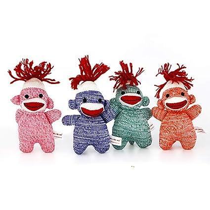 Amazon.com: Plushland Adorable calcetines Monkey con colores ...