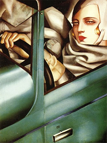 - Tamara de Lempicka - Autoportrait (Tamara in The Green Bugatti), Size 24x32 inch, Poster Art Print Wall décor