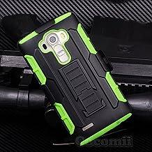 LG G4 Case, Cocomii® [HEAVY DUTY] LG G4 Robot Case **NEW** [ULTRA FUTURE ARMOR] Premium Belt Clip Holster Kickstand Bumper Case - Full-body Rugged Protective Cover for LG G4 (Black/Green) ★★★★★