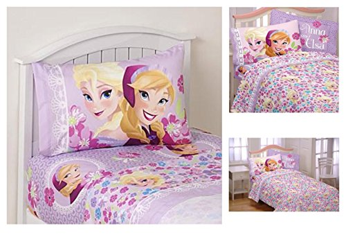 Disney Frozen Love Blooms Microfiber Twin Sheet Set Bloom Bedding