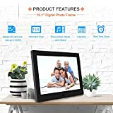 LoMe Digital Photo Frame 10 inch 1080P HD IPS LCD Display Electronic Picture Frame with Motion Sensor, HD Video/ MP3/ Electronic Photo/Advertising Display/Digital Clock/Calendar