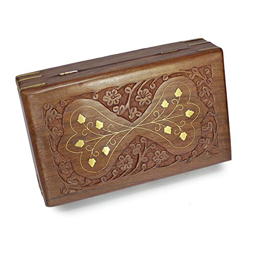 Decorative Jewelry Boxes Ideas : Handcrafted decorative wooden jewelry box treasure chest
