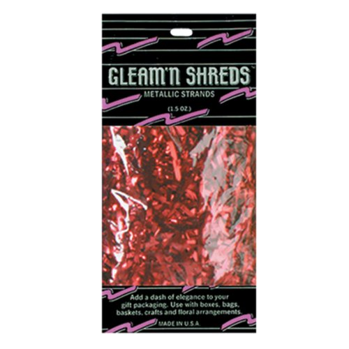 Gleam 'N Shreds Metallic Strands (red) Party Accessory  (1 count) (1.5 Ozs/Pkg)