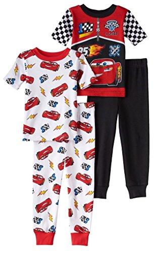 Price comparison product image Disney Toddler Boys Cars 4-Piece Pajama Set (Multi, 2T)