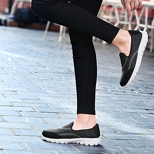 Casual Loafers De Negro Zapatos Wealsex Mujer Tejiendo Moda Sneakers Volando Mocasines xUcBwYq0