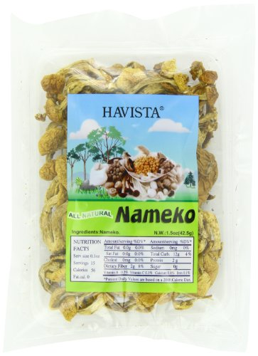 Havista Dried Nameko Mushrooms, 1.5 Ounce (Pack of 12) by Havista
