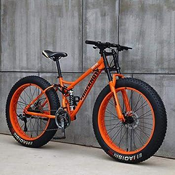 GASLIKE Fat Tire Mountain Bike para Adolescentes de Hombres y ...