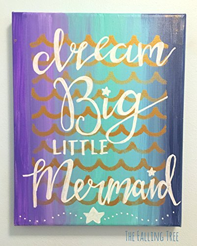 Ocean & Mermaid Themed Little Girl's Bedroom or Nursery Canvas Painting
