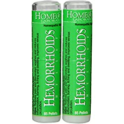Homeocare Labs Hemorrhoids Relief, 85-Count Tubes (Pack of 2)