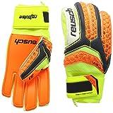 Reusch Soccer Pulse Prime S1 Finger Support Junior Goalkeeper Glove, Yellow/Green, Pair