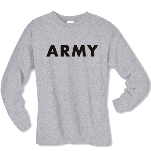 ARMY Long Sleeve T-Shirt in gray - (Army Long Sleeve Tee)