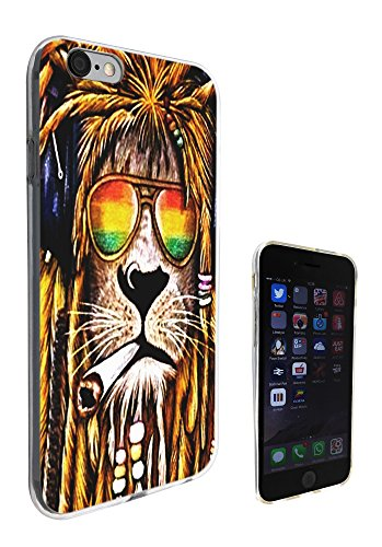 716 - Rasta Lion Weed Cannibas Hair Jamaican Design iphone 5 5S Fashion Trend Protecteur Coque Gel Rubber Silicone protection Case Coque