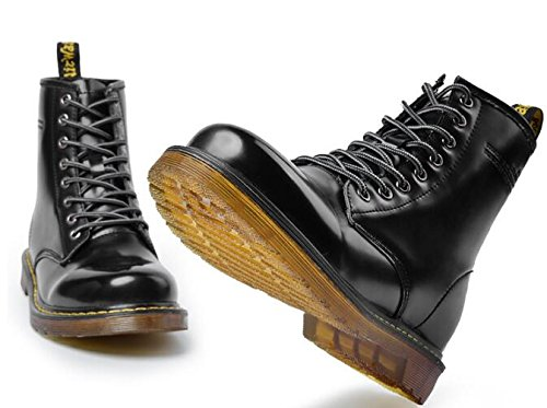 Jackdaine Men's Lace-up Genuine Leather Waterproof Combat Boots