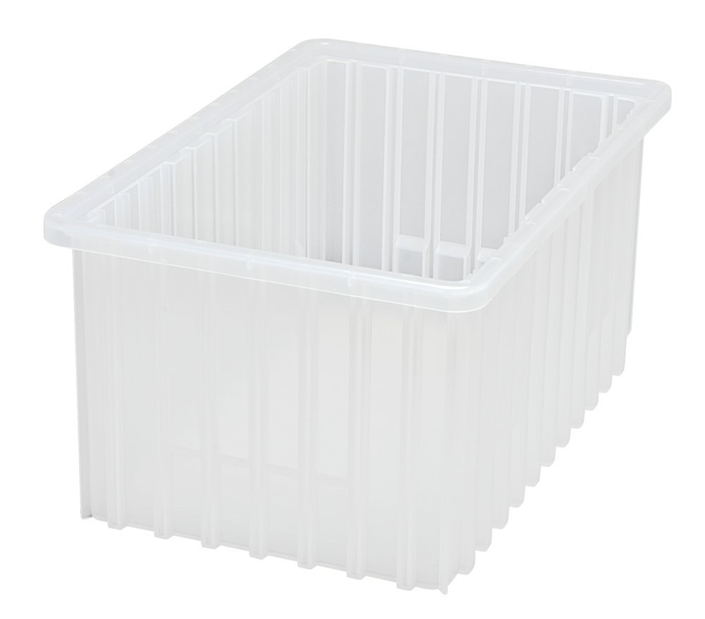 Quantum Storage Systems DG92080CL Dividable Grid Container 16-1/2-Inch Long by 10-7/8-Inch Wide by 8-Inch High, Clear, 8-Pack