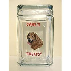 051d8a2b59bc Golden Retriever, Custom Canister, Pet Treat Jar, Dog Food Holder, Personalized  Dog