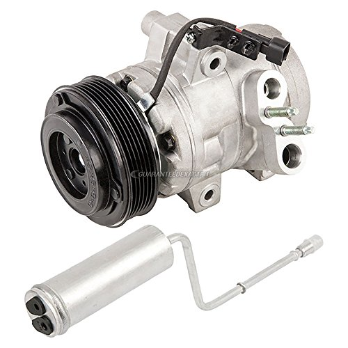 (AC Compressor w/A/C Drier For Ford Focus 2008 2009 2010 2011 - BuyAutoParts 60-88715R2 New)