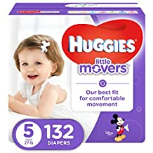 HUGGIES LITTLE MOVERS, Baby Diapers, Size 5, 132ct