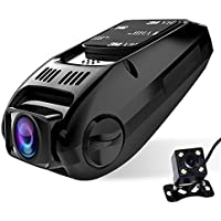 Dual lens Dash Cam, CiBest A118C Upgraded HD1080P [Front cam+ Rear View Cam] Car Camera Video Recorder, 170° wide angle (Capacitor Edition-No built-in battery)