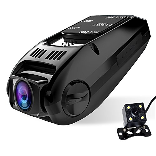 Dual lens Dash Cam, CiBest A118C Upgraded HD1080P [Front cam+ Rear View Cam] Car Camera Video Recorder, 170° wide angle (Capacitor Edition-No built-in battery) (Front And Rear Facing Dash Cam)