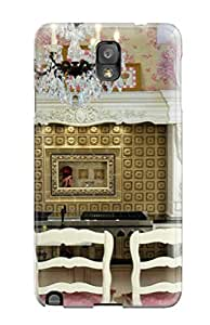 High Grade Evelin Garza Flexible Tpu Case For Galaxy Note 3 - Gold Backsplash Kitchen With Floral Accents