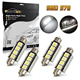 98 silverado dome light cover - Partsam 4x Xenon White 42MM 4SMD Error Free festoon LED Bulbs Car Interior Lights 4-5050-SMD 12V