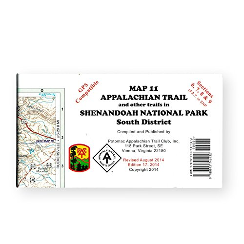 Official Shenandoah National Park, Virginia, Appalachian Trail Map (South District)