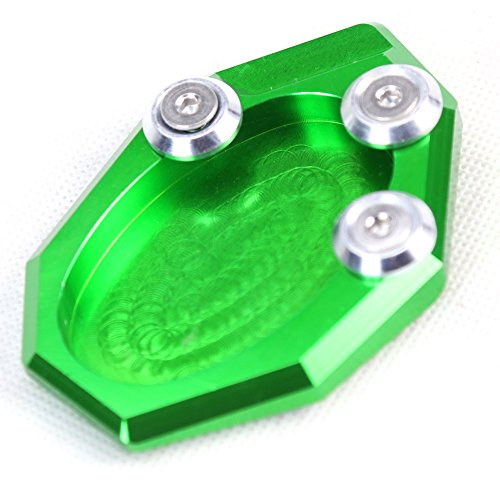 SMOK Motorcycle Accessories CNC Aluminum Kickstand Foot Side Stand Extension Pad Support Plate Bike Extension For Kawasaki Versys 650 2015-2016 7 COLORS (Green) - Kickstand Side Stand