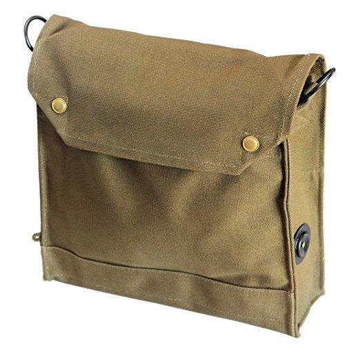 British MKVII Gas Mask Bag ADVENTURE SATCHEL for smartphone, tablet & water bottle