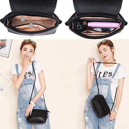 Mädchen-beiläufige moderne Handtaschen-leichte Schulter-Beutel-Geldbeutel-vollkommenes Geschenk, Schwarzes