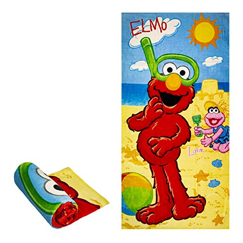(JPI Sesame Street Lola Sandcastle Bath/Pool/Beach Towel Towel - Officially Licensed - Super Soft - 30