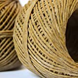 100% Organic Hemp Wick with Natural Beeswax Coating (200 ft) Spool, Eco-friendly, Unbleached, Raw and suitable for Candle Wicks and Hemp Wick for Smoking, Hempwick Dispenser & Lighter