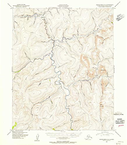 YellowMaps Bendeleben C 6 AK topo map, 1:63360 Scale, 15 X 15 Minute, Historical, 1950, Updated 1955, 20.7 x 18 in - Paper