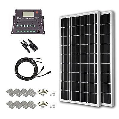 HQST 200 Watt 12 Volt Monorystalline Solar Panel Kit