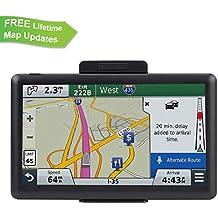ADiPROD Navigation System for Car, 7 inch 8GB Car GPS Spoken Turn-to-Turn Traffic Alert Vehicle GPS Navigator, Lifetime Map Updates