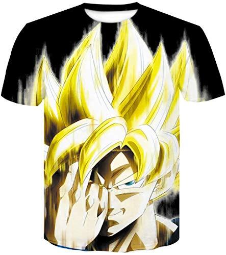 T 106 Cheveu Vegeta Goku 3d Jaune Ball Saiyan Son shirt Homme Dragon Impression Super Flychen 56x1aSnR