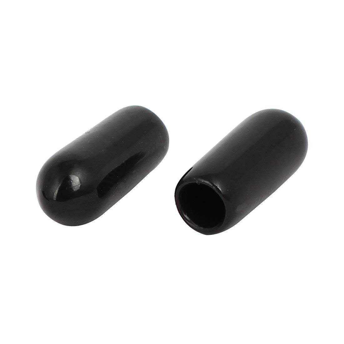Yohii 100Pcs 4mm//0.157 Inch Inner Dia Rubber Hose End Cap Screw Thread Protector Cover Black