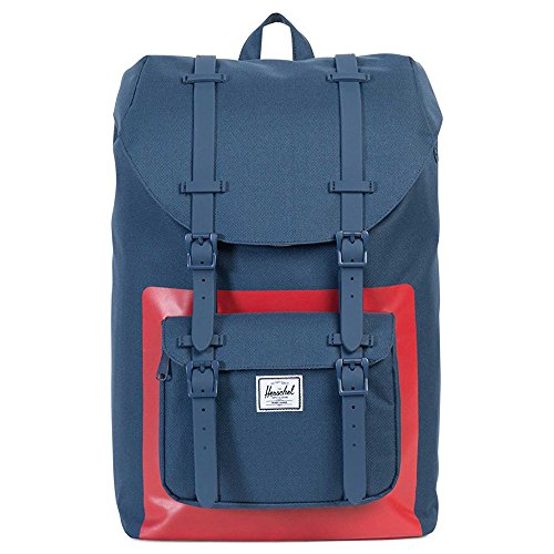 Herschel Supply Co. Women's Little America Backpack, Navy/Red Block, One Size by Herschel Supply Co.