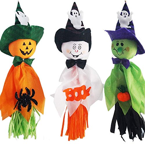 Halloween Hanging Ghost Decorations,Pumpkin Ghost Straw Windsock Pendant Scary Halloween Ghost Bar Garden Party Indoor Outdoor Background ()