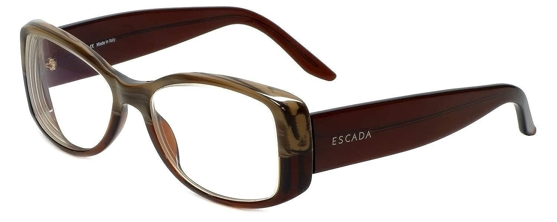 084741a09e6 Escada Designer Eyeglass Frames SES013-6HL in Brown 56mm  Amazon.co.uk   Clothing