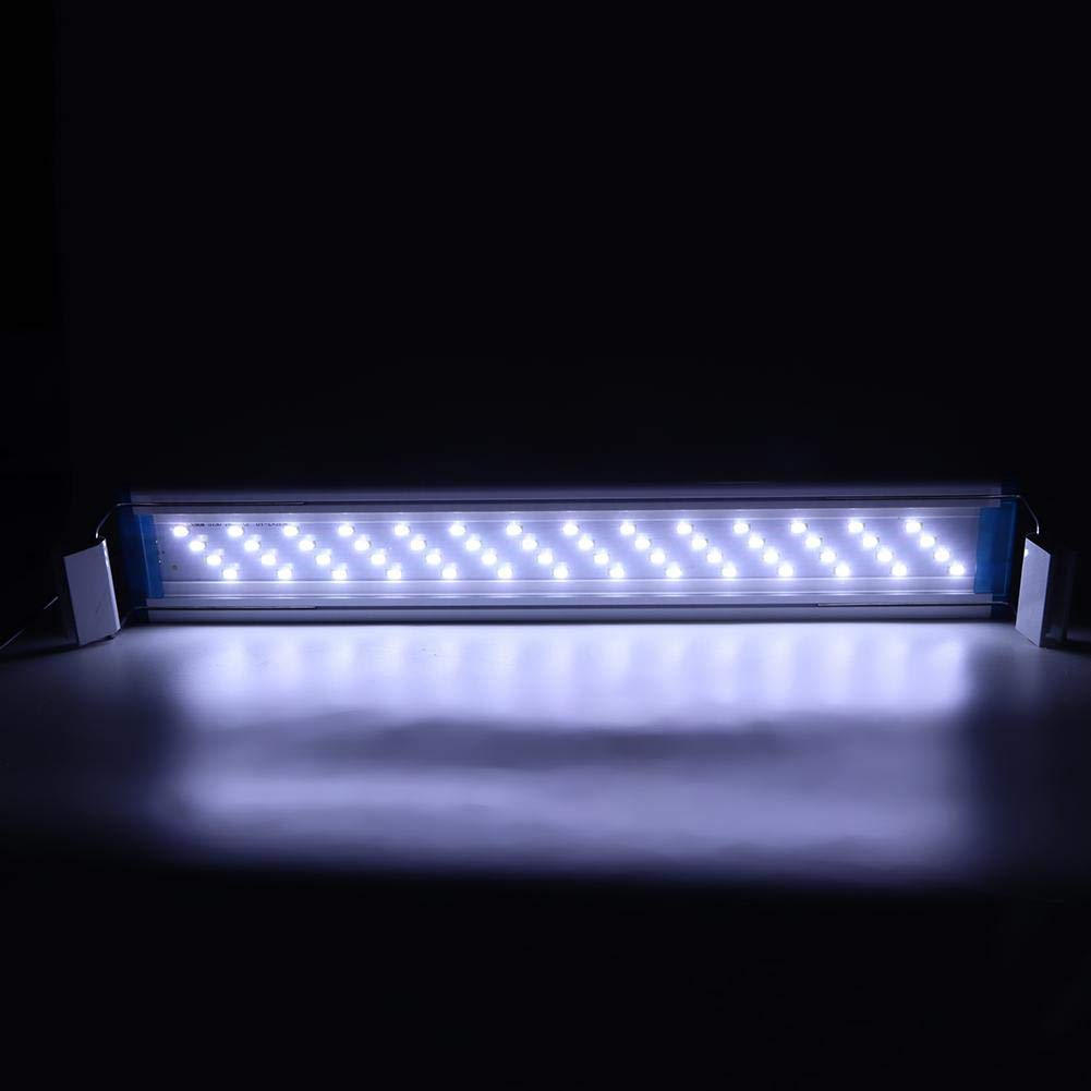 Hffheer Lampada LED per acquari Lampada per acquari LED Piante per acquari Illuminazione a Risparmio energetico Lampada per acquari Illuminazione per acquari con staffe estensibili AL-40LED