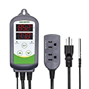 #LightningDeal Inkbird ITC-308 Max.1200W Heater, Cool Device Temperature Controller, Carboy, Homebrew, Fermenter, Greenhouse Terrarium Temp. Control