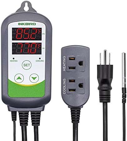 Inkbird ITC-308 Max.1200W Heater, Cool Device Temperature Controller, Carboy, Homebrew, Fermenter, Greenhouse Terrarium Temp. Control
