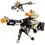 LilPals 28 Inch Rapid Fire Snow Leopard Sniper Rifle Toy Gun - With Dazzling Light, Amazing Sound & Unique Action