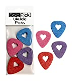 BoloPick Felt Ukulele Picks, with Easy to Hold Heart Shape Cutout, for Uke, guitar, and bass (8 Pack, Original Recipe)