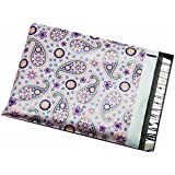 "100 10x13 Purple Paisley Poly Mailers Shipping Envelopes Bags 10"" x 13"" By ValueMailers"